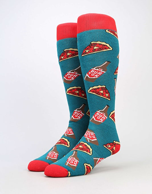 Burton Party 2017 Snowboard Socks - Pizza and Beer