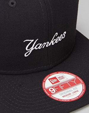 New Era MLB New York Yankees Wool Woodmark Snapback Cap - Navy