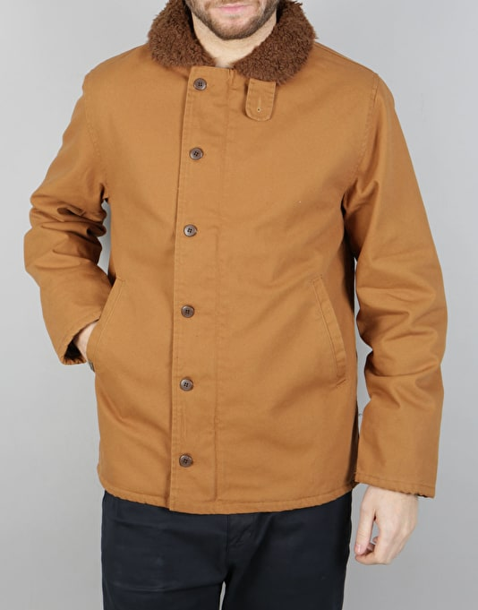 Brixton Mast Jacket - Brown/Copper