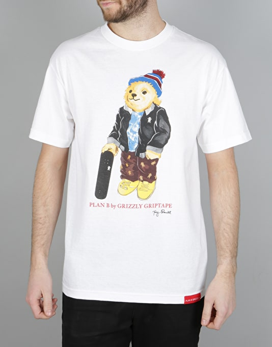 Grizzly Torey Bear T-Shirt - White