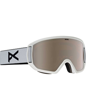 Anon Relapse 2017 Snowboard Goggles - White/Silver Amber