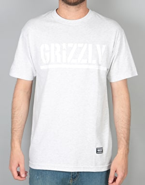 Grizzly OG Stamp Logo T-Shirt - Ash