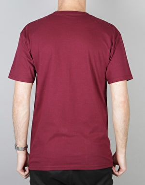 Acapulco Gold Empire S/S T-Shirt - Burgundy