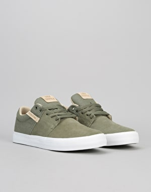 Supra Stacks Vulc II Skate Shoes - Olive/White