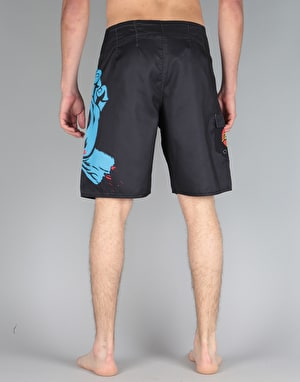 Santa Cruz Screaming Hand Board Short - Black