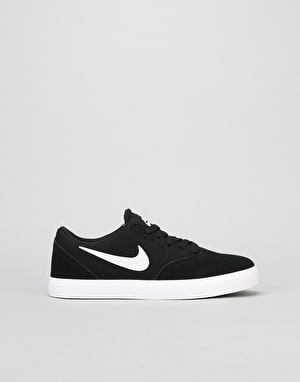 Nike SB Check Boys Skate Shoes - Black/White