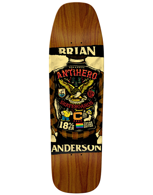 Anti Hero BA Flying Colours Skateboard Deck - 9.25""