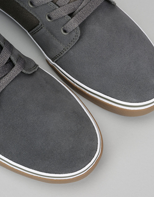 Etnies Barge LS Skate Shoes - Grey/White/Gum