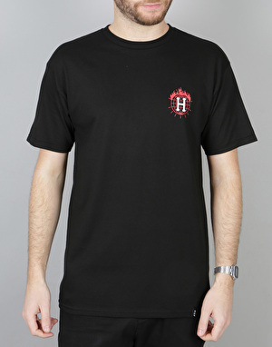 HUF x Thrasher TDS T-Shirt - Black