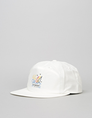 Element Frame Unstructured Snapback Cap - White