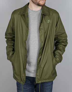 Nike SB Shield Coaches Jacket - Legion Green/Palm Green