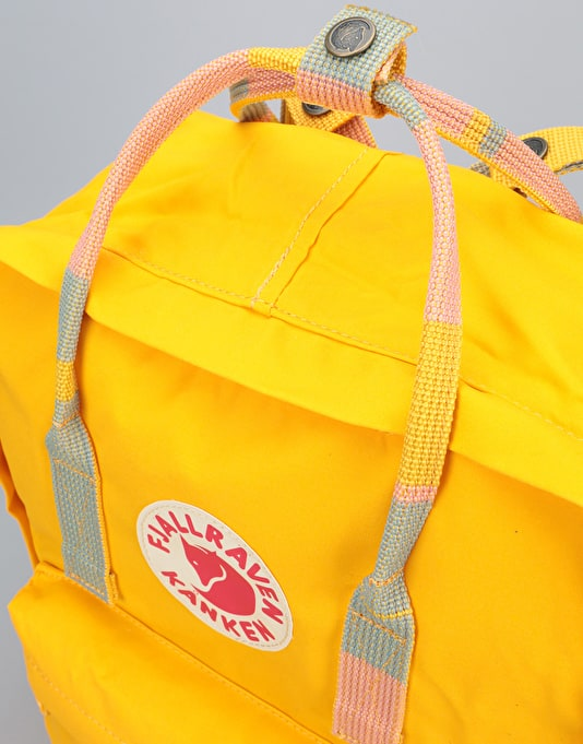 Fjällräven Kånken Backpack - Warm Yellow/Random Blocked