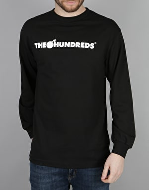 The Hundreds Forever Bar Logo Long Sleeve T-Shirt - Black