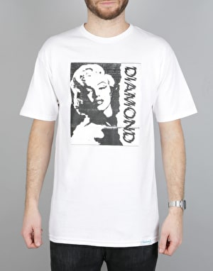 Diamond Supply Co. x Marilyn Monroe Newsprint T-Shirt - White