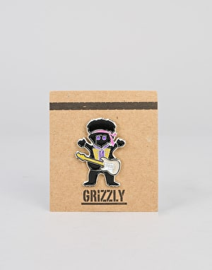 Grizzly x Jimi Hendrix Grizzly Hendrix Pin - Black