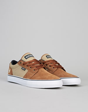 Etnies Barge LS Skate Shoes - Brown/Navy