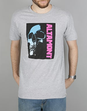 Altamont 90S Skull Poster T-Shirt - Grey/Heather