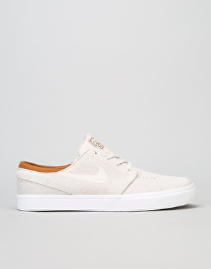 Nike SB Zoom Stefan Janoski Leather Skate Shoes - Ivory/Lt Bone-Hzlnt