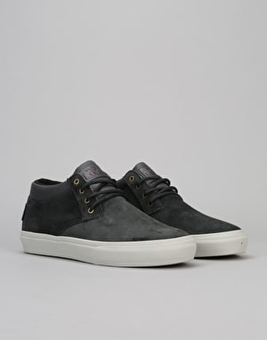 Lakai Daly Mid AW (MJ Mid AW) Skate Shoes - Cement Oiled Suede