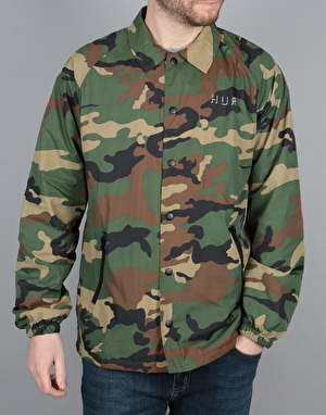 HUF Shadow Coach Jacket - Woodland Camo