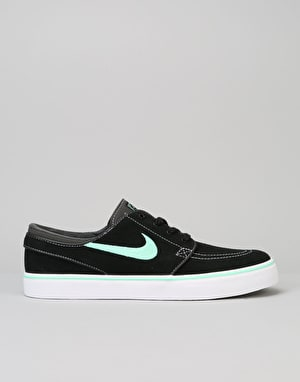 Nike SB Zoom Stefan Janoski Skate Shoes - Black/Green Glow-Anth-White