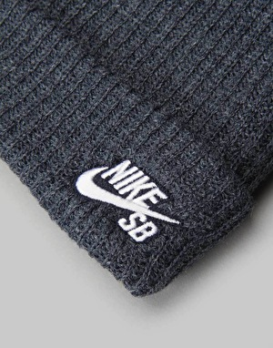 Nike SB Fisherman Cuff Beanie - Obsidian Heather/White