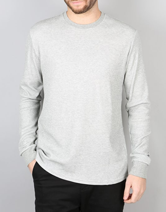 Nike SB Long-Sleeve Thermal T-Shirt - DK Grey Heather/Dark Steel Grey