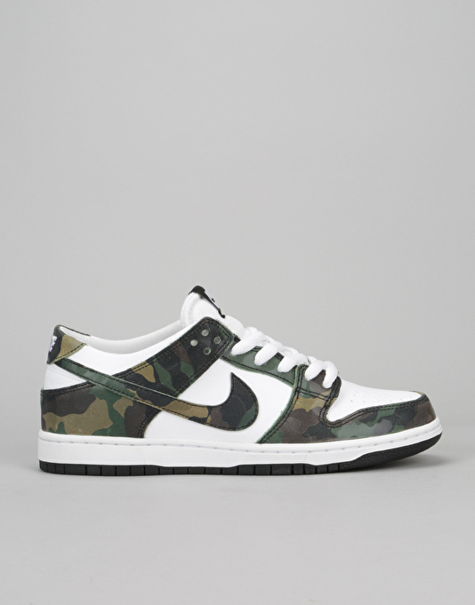 Nike SB Dunk Low Skate Shoes - Legion Green Legion Green-White-Black ... 547c78166dbc5