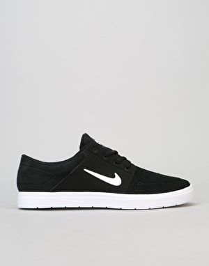 Nike SB Portmore Vapor Skate Shoes - Black/White