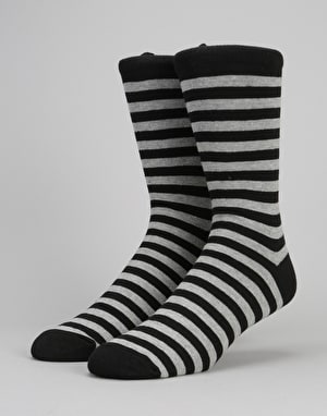Route One Stripe Socks - Black/Grey