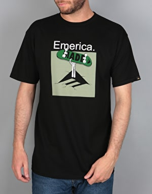 Emerica Skeleton Crew T-Shirt - Black