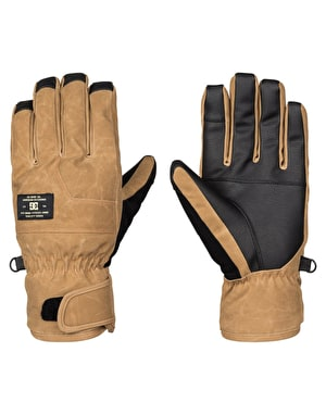 DC Seger SE 2017 Snowboard Gloves - Dull Gold