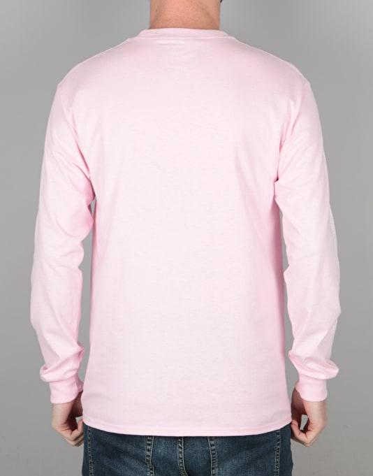 The National Skateboard Co. Exposure L/S T-Shirt - Pink