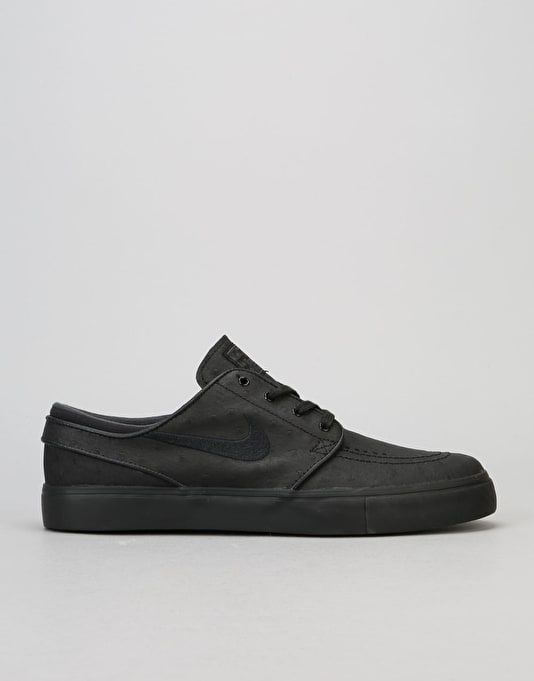 Nike SB Zoom Stefan Janoski Leather Skate Shoes - Black/Anthracite