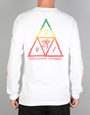 HUF Ra Triangle Long Sleeve T-Shirt - White
