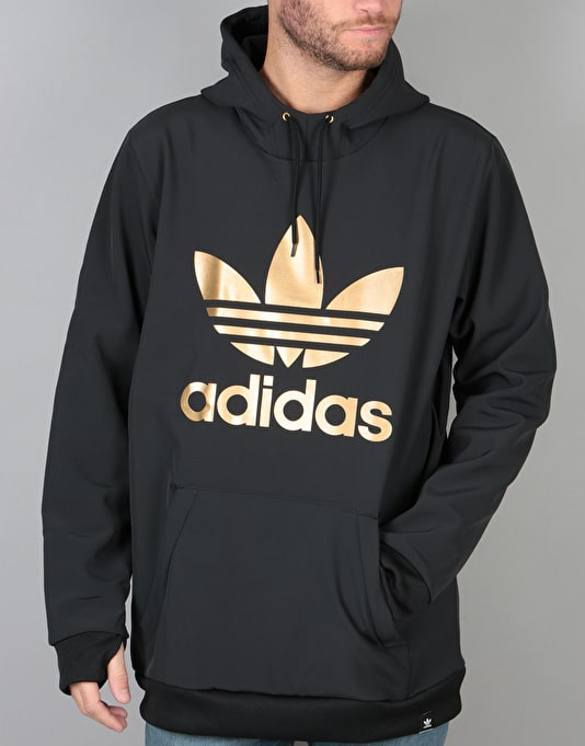 Adidas Team Tech Pullover Hoodie - Black Tactile Gold Met. F17   Skate Pullover  Hoodies   Mens Hoodies   Clothing   Route One d28aca2abb
