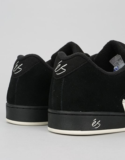 éS Accel Slim Skate Shoes - Black/Black/White