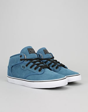Globe Motley Mid Skate Shoes - Sea Blue/White