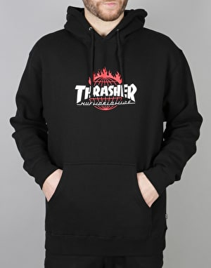 HUF x Thrasher TDS Pullover Hoodie - Black