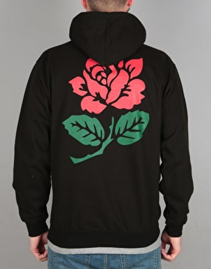 Route One Rose Pullover Hoodie - Black