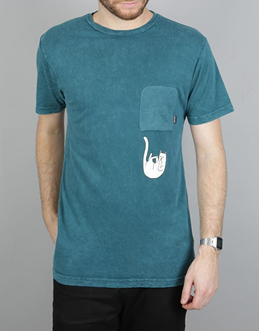 RIPNDIP Falling for Nermal Pocket T-Shirt - Deep Sea Mineral Wash