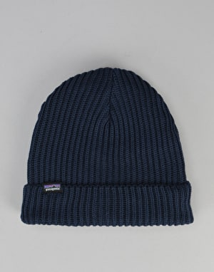 Patagonia Fisherman Rolled Beanie - Navy Blue