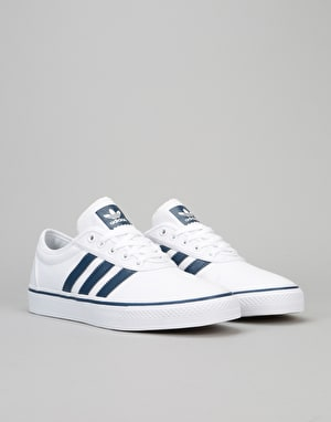 Adidas Adi-Ease Skate Shoes - White/Mystery Blue/Gum