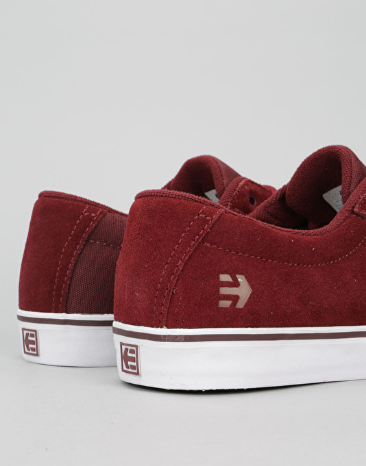 Etnies Jameson Vulc Skate Shoes - Burgundy/Tan/White