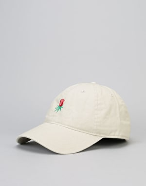 HUF Rose Bud Curved Brim 6 Panel Cap - Stone