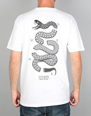 5boro Join or Die II T-Shirt - White