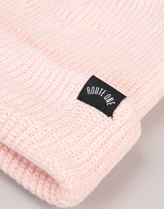 Route One Fisherman Beanie - Light Pink