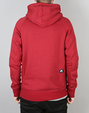 Nike SB Icon Pullover Hoodie - Team Red/White