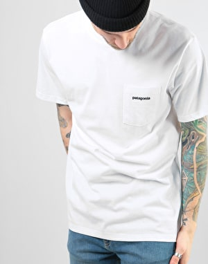 Patagonia P-6 Logo Pocket T-Shirt - White