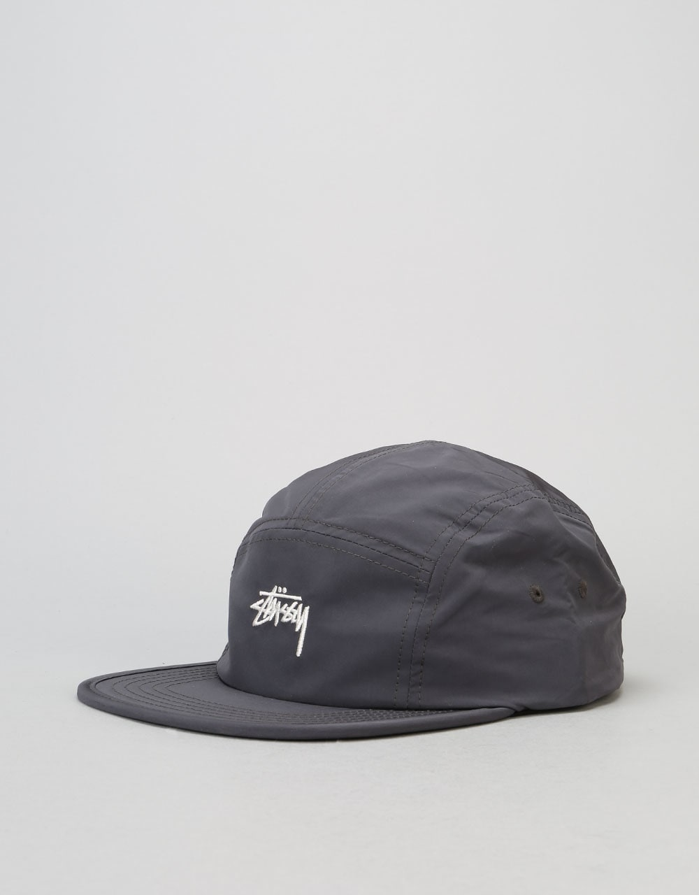 Stüssy Nylon Poly Stock Logo Camp 5 Panel Cap - Black  224142639